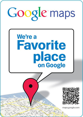 Favorite Place Decal from Google Local