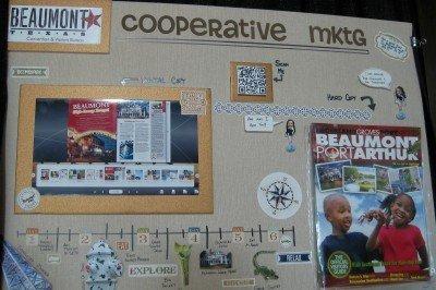 Beaumont CVB cooperative marketing display board TACVB Idea Fair