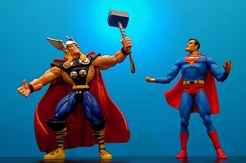Superhero online champions, just for you (courtesy JD Hancock at Flickr CC)