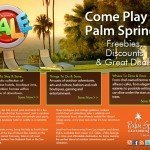 Palm Springs off season Facebook promotion