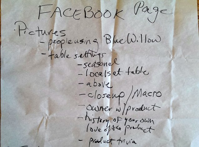 Ideas for Facebook Page updates to attract Blue Willow customers Webster City Iowa social media workshop by Tourism Currents