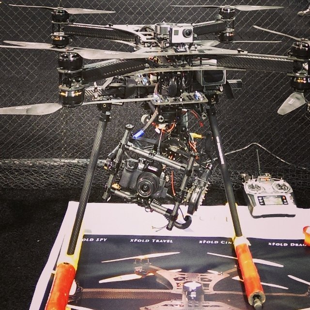 A destination marketing trend - Drone on display at the NAB Show, colocated with NMX 2015 (photo by Sheila Scarborough)