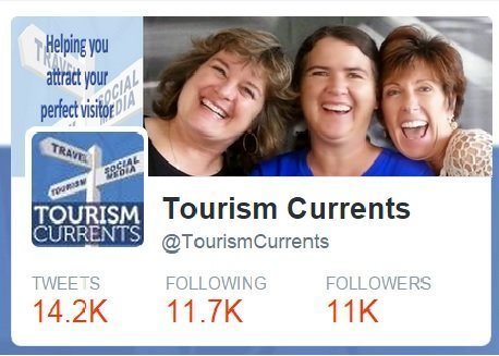 Screenshot Tourism Currents Twitter account graphic