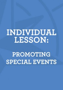 Lesson 5: Promoting Special Events