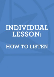 Lesson 1: How to Listen