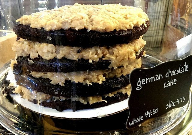 German Chocolate cake at C. Adam's Bakery in the Milwaukee WI Public Market (photo by Sheila Scarborough)