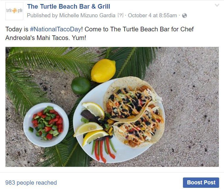 Turtle Beach Bar & Grill micro moments