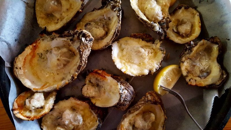 Restaurant Week marketing - promote delectable dishes like these grilled oysters (photo by Sheila Scarborough)