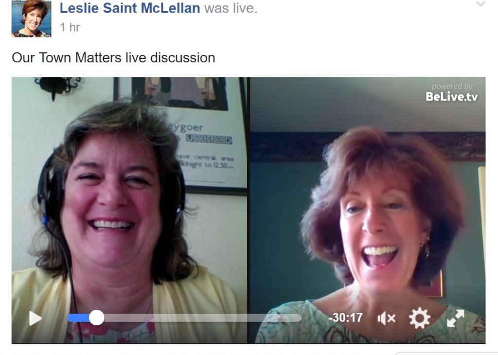 Training in action in our private Our Town Matters Facebook Group live Q&A session Sheila Leslie Tourism Currents