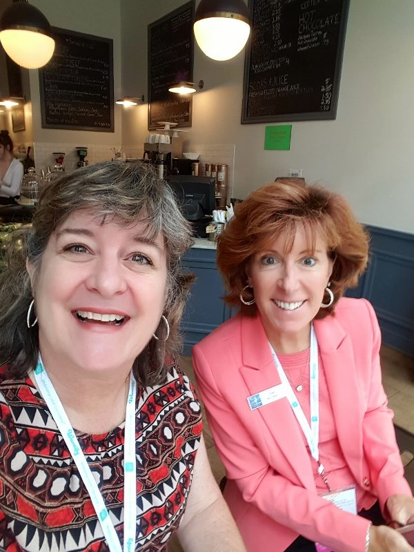 Sheila and Leslie from Tourism Currents breakfast at Main Street Now 2017 conference in Pittsburgh