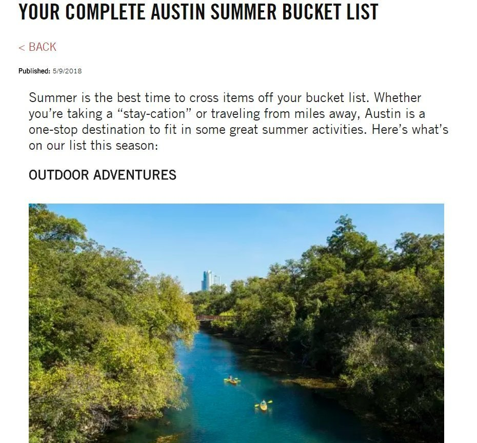 Visit Austin blog post summer bucket list