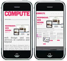 Example of responsive and non-responsive website on mobile device courtesy Alconmobile