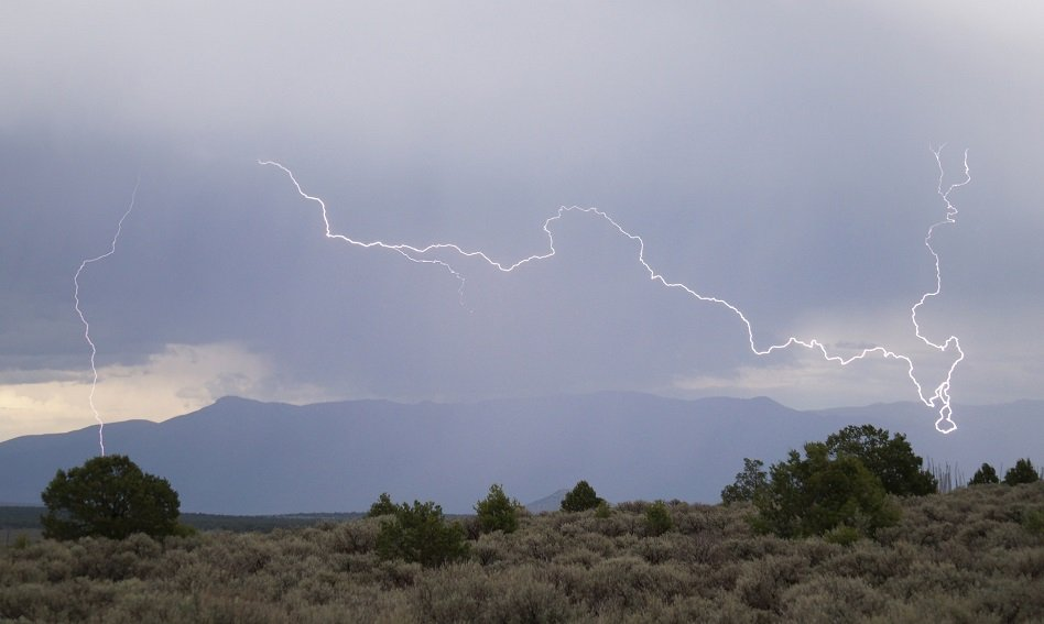 Lightning and mountains (courtesy Mike Lewinski on Flickr CC)
