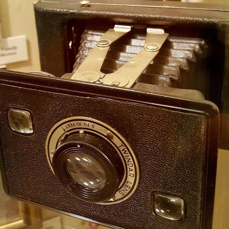 Photo SEO doesn't matter to this vintage Kodak Jiffy camera at Layland Museum of History Cleburne TX (photo by Sheila Scarborough)