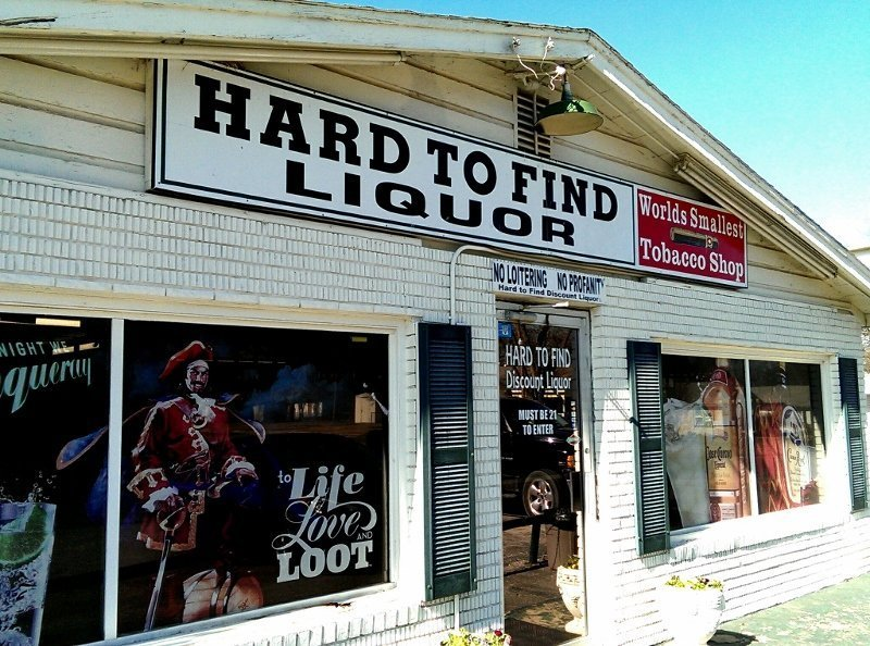 The Hard to Find Liquor store in Ardmore OK is indeed hard to find and there is no online store (photo by Sheila Scarborough)
