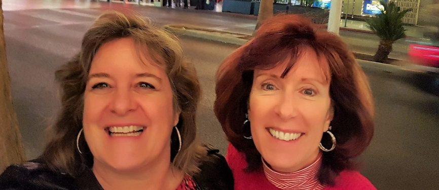Sheila and Leslie Tourism Currents Fremont Street area Las Vegas