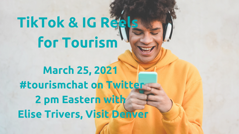 TikTok and Instagram Reels #tourismchat Event Cover Graphic Mar 2021 #tourismchat