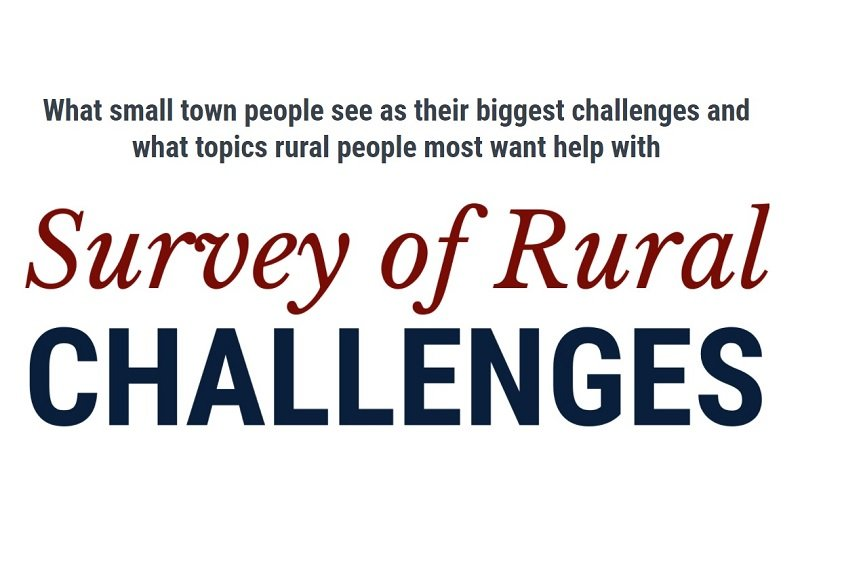 Survey of Rural Challenges graphic SaveYour.Town